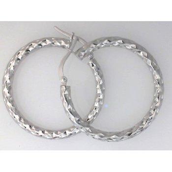 Diamond Cut Hoops