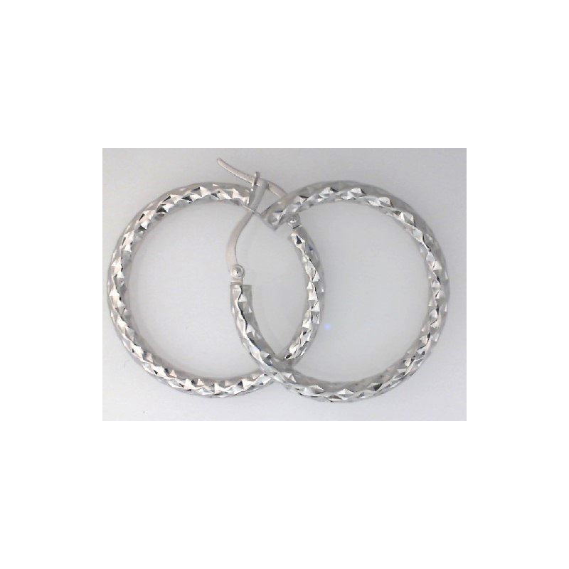 The  Collection Diamond Cut Hoops