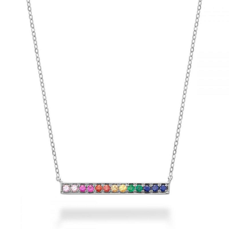 RNB Bijoux Jewellery Rainbow Bar Necklace