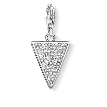 Charm Pendant Triangle White