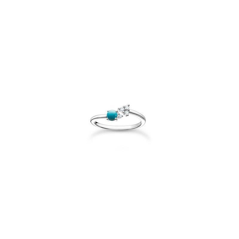 Thomas Sabo Ring Silver Turquoise Zirconia