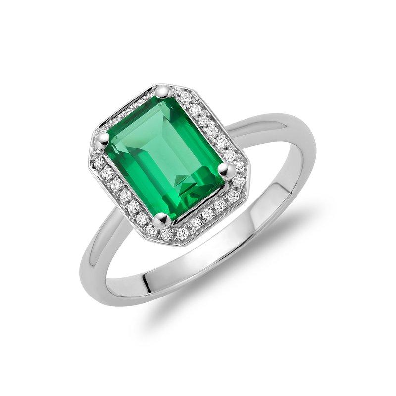 RNB Bijoux Jewellery Created Emerald and Diamond Ring