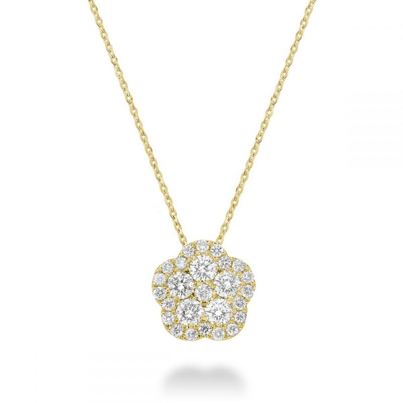 RNB Bijoux Jewellery Hollow Flower Diamond Pendant