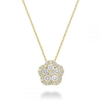 Hollow Flower Diamond Pendant