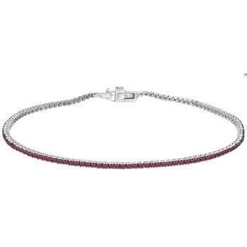 Pink Sapphire Tennis Bracelet