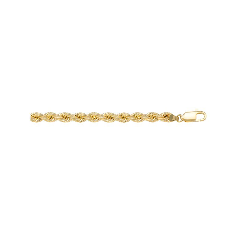 The Collection Gold Hollow Rope Chain