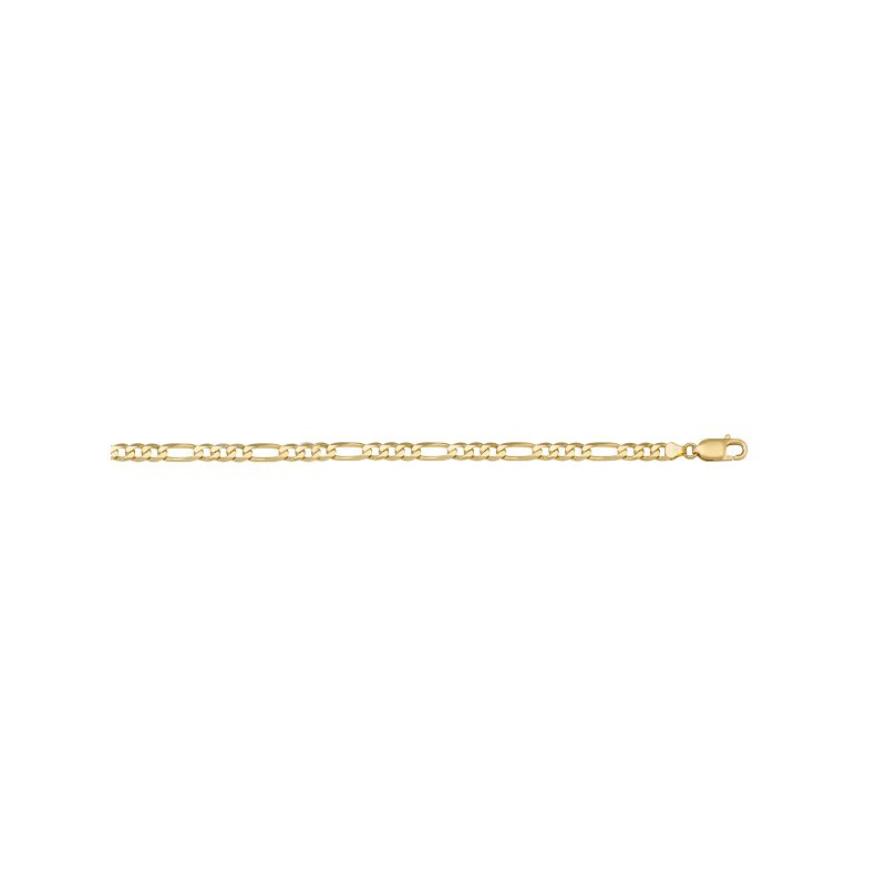 The Collection Gold Hollow Figaro Link Chain