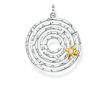 Sterling Silver Labyrinth Pendant