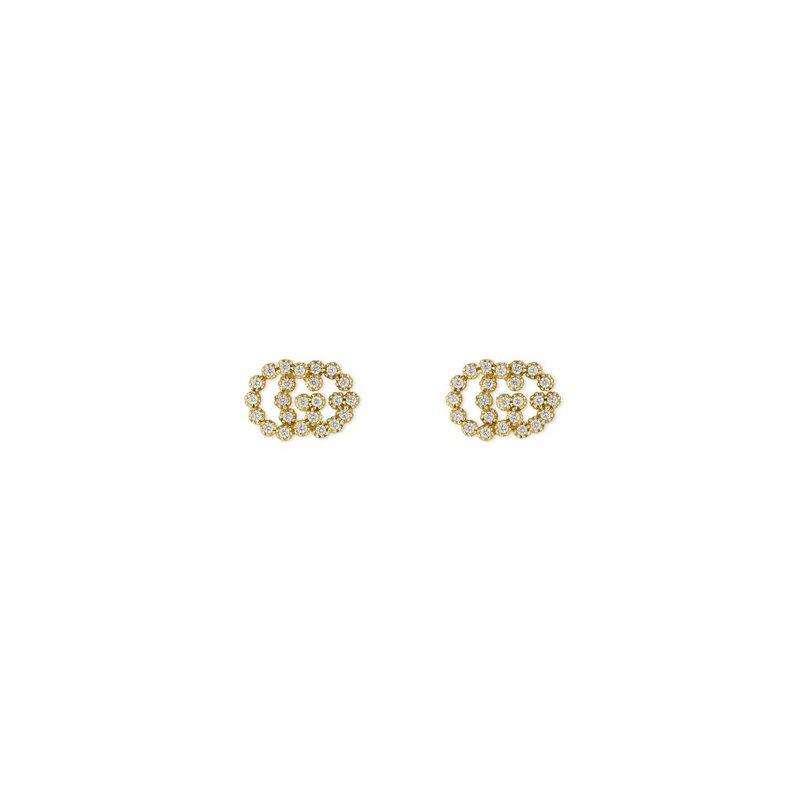 Gucci Jewellery GG Running studs with diamonds