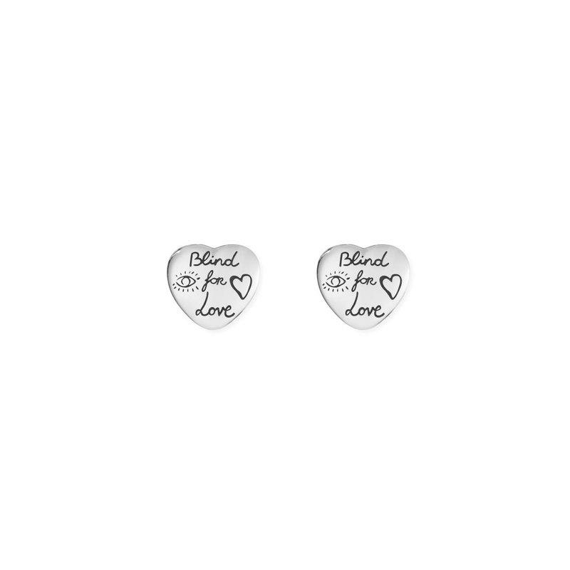 "Gucci Jewellery ""Blind For Love"" earrings in silver"