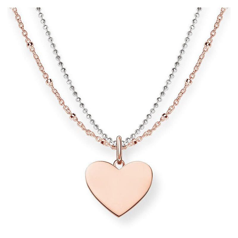 Thomas Sabo Double Strand Heart Necklace