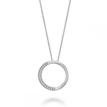 Half Circle Diamond Pendant