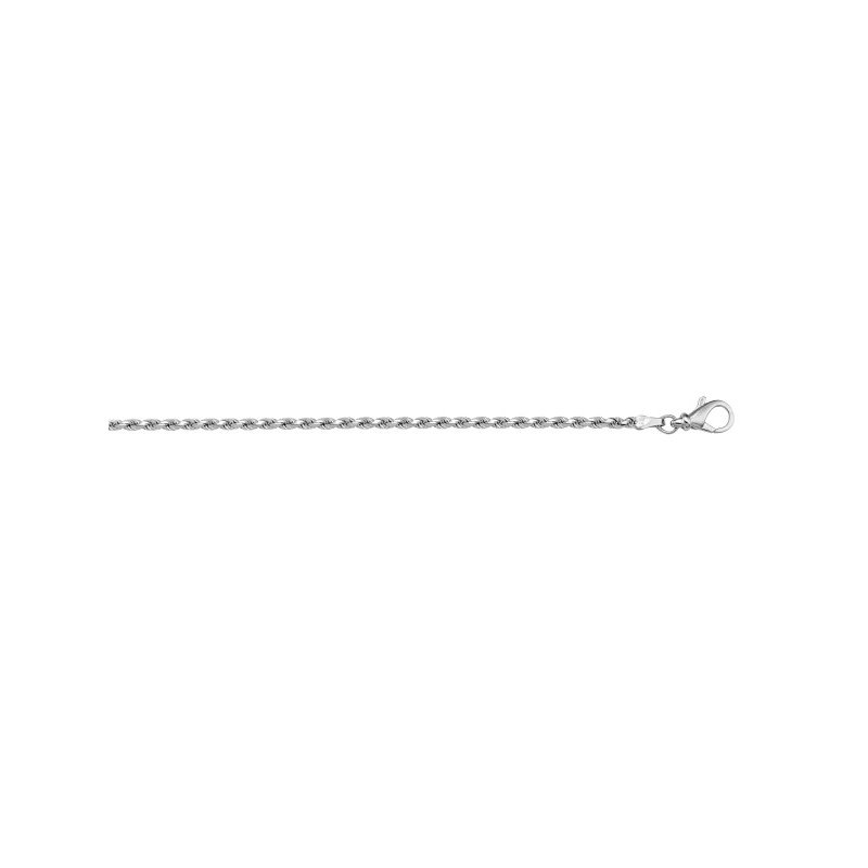 The  Collection Solid Diamond Cut Rope Link Chain