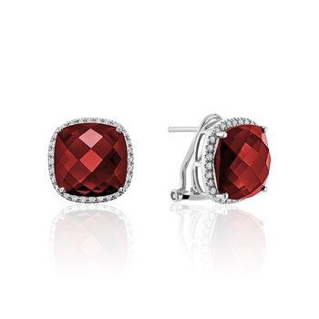 Created Ruby and Diamond Earrings