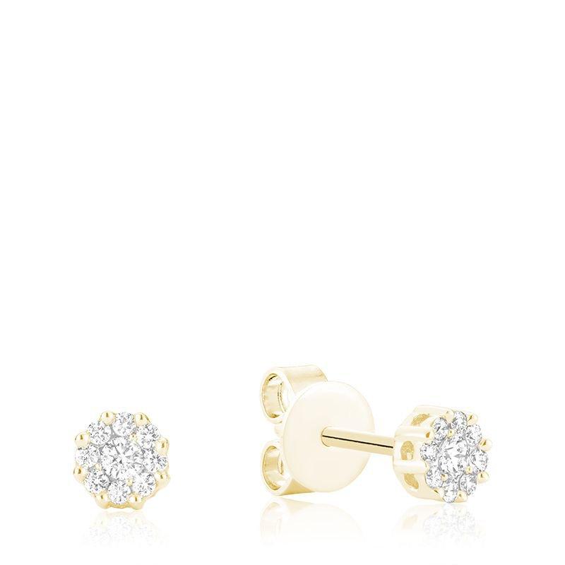 RNB Bijoux Jewellery Cluster Diamond Stud Earrings