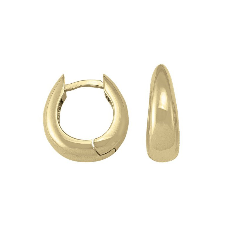 The Collection Oval Huggie Earrings