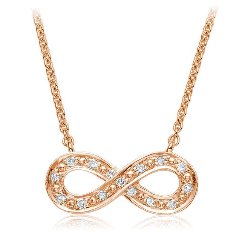 RNB Bijoux Jewellery Infinity Diamond Necklace