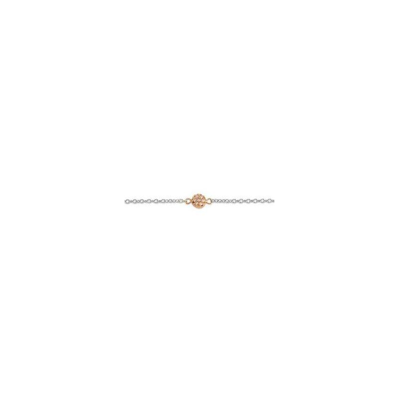 The  Collection Luna Style Fancy Link Cz Bracelet