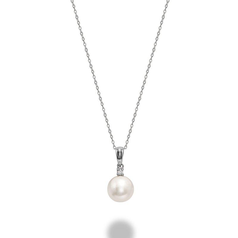 RNB Bijoux Jewellery Pearl and Diamond Pendant