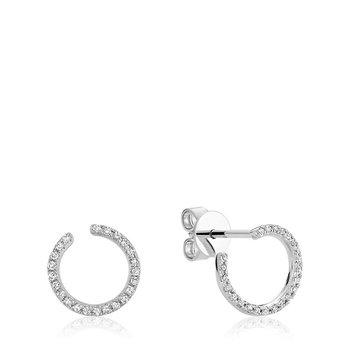 Diamond Curl Stud Earrings