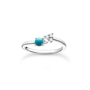 Ring Silver Turquoise Zirconia