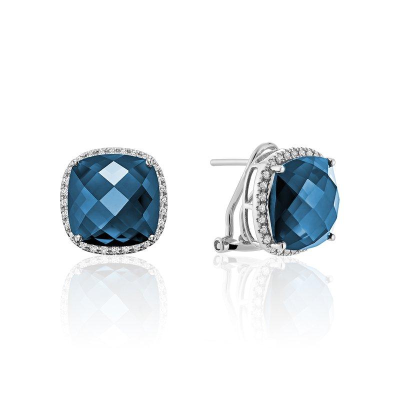 RNB Bijoux Jewellery London Blue Topaz and Diamond Earrings