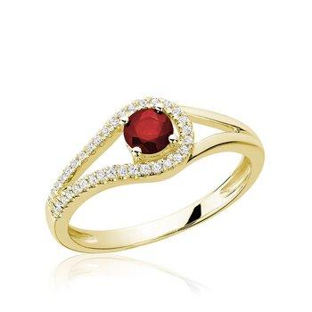 Split Shank Ruby & Diamond Ring