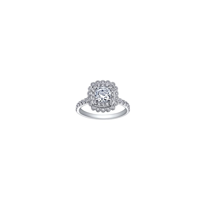 The Collection Double Halo Diamond Ring
