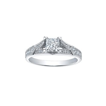 Multi Stone Princess Cut Diamond Ring