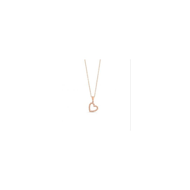 The  Collection Heart Beaded Necklace