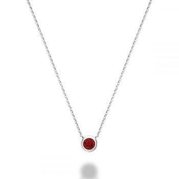 Bezel Set Ruby Necklace