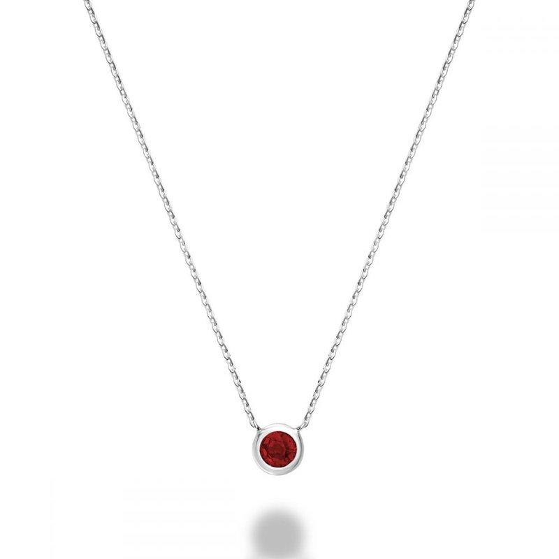 RNB Bijoux Jewellery Bezel Set Ruby Necklace
