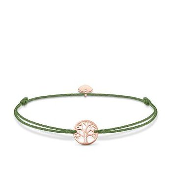"Rose plated textile bracelet ""Little Secret Tree of Love"""