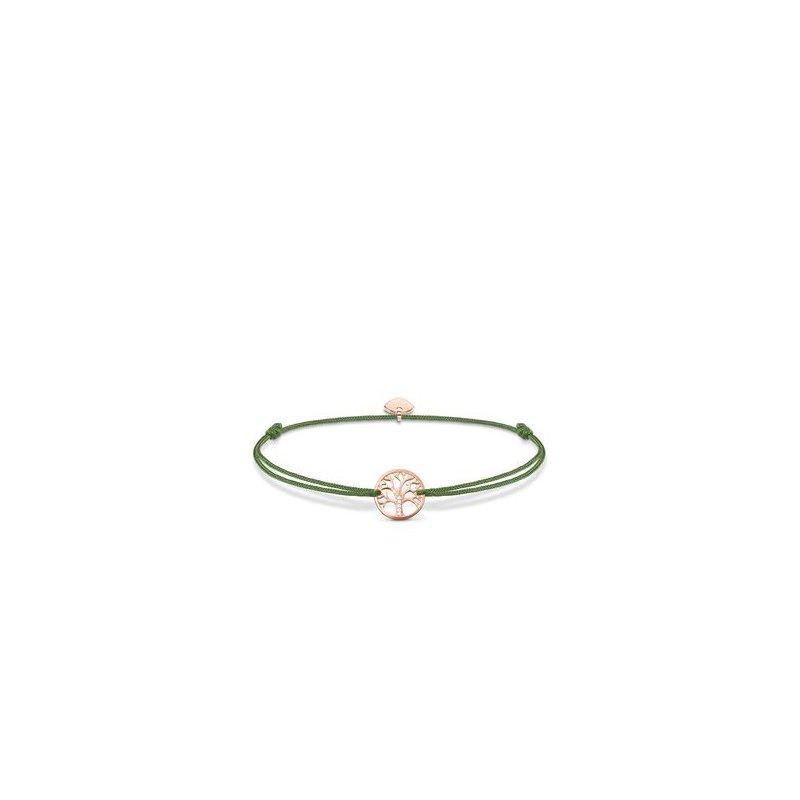 "Thomas Sabo Rose plated textile bracelet ""Little Secret Tree of Love"""