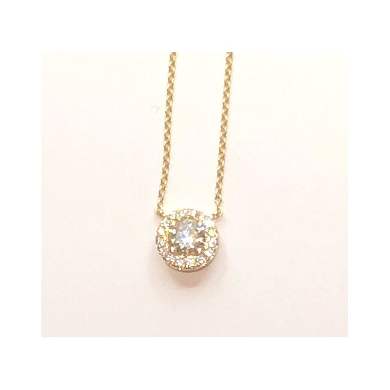 The Collection Diamond Halo Necklace