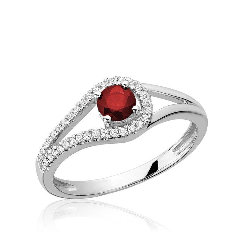 RNB Bijoux Jewellery Split Shank Ruby & Diamond Ring