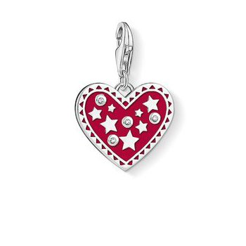 Red Enamel Heart Charm