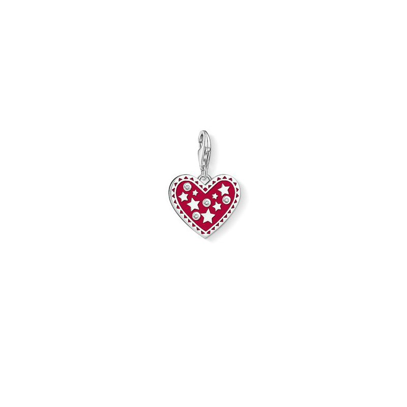 Thomas Sabo Red Enamel Heart Charm