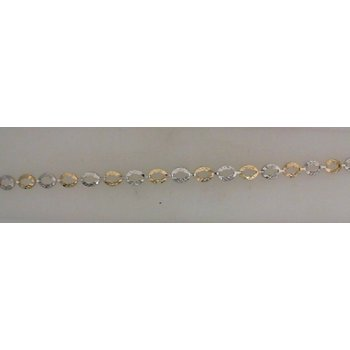 Two-Tone 10 Karat Oval Link Bracelet