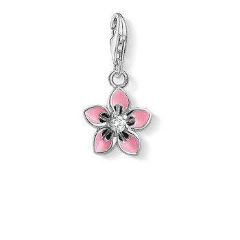 Charm pendant Pink Flower
