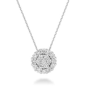 Round Pavé Diamond Pendant
