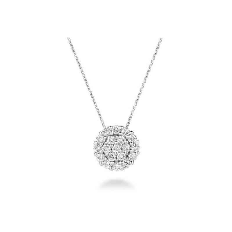 RNB Bijoux Jewellery Round Pavé Diamond Pendant