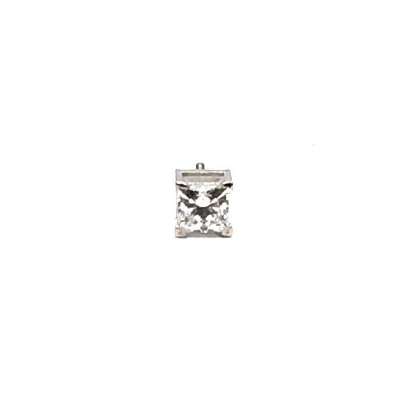 The Collection Single Princess Cut diamond Stud
