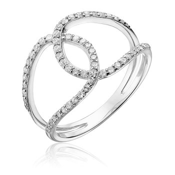 Open Link Diamond Fashion Ring