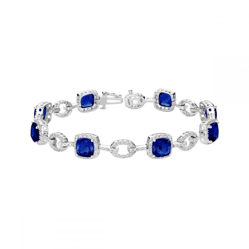RNB Bijoux Jewellery Created Sapphire and Diamond Bracelet