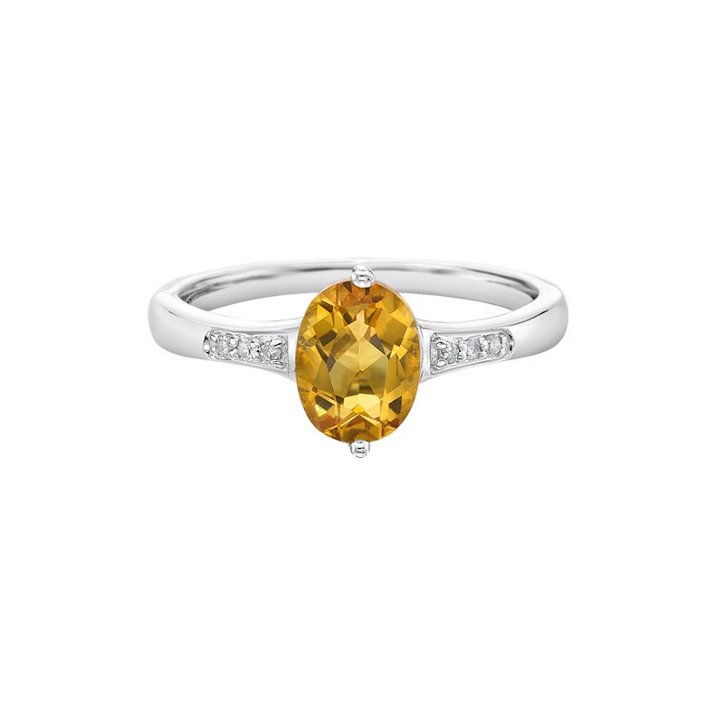 The  Collection Citrine And Diamond Ring