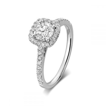 Cushion Mount Diamond Engagement Ring