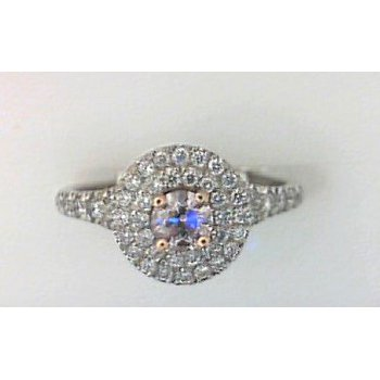 Halo Pink Diamond Ring