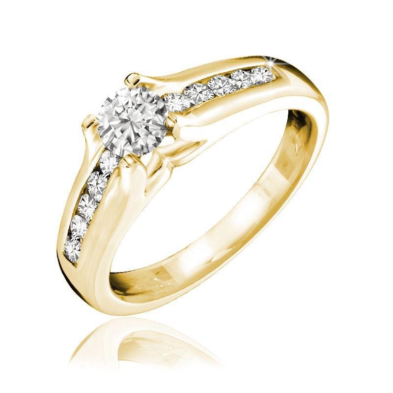 RNB Bijoux Jewellery Channel Set Solitaire Diamond Ring