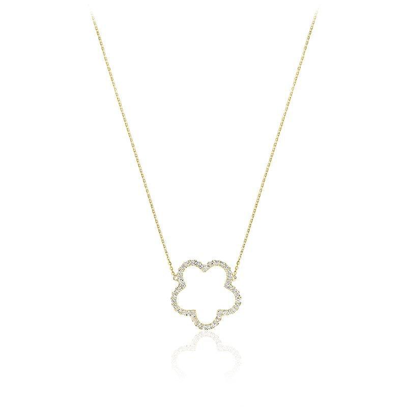 RNB Bijoux Jewellery Open Hollow Flower Diamond Necklace